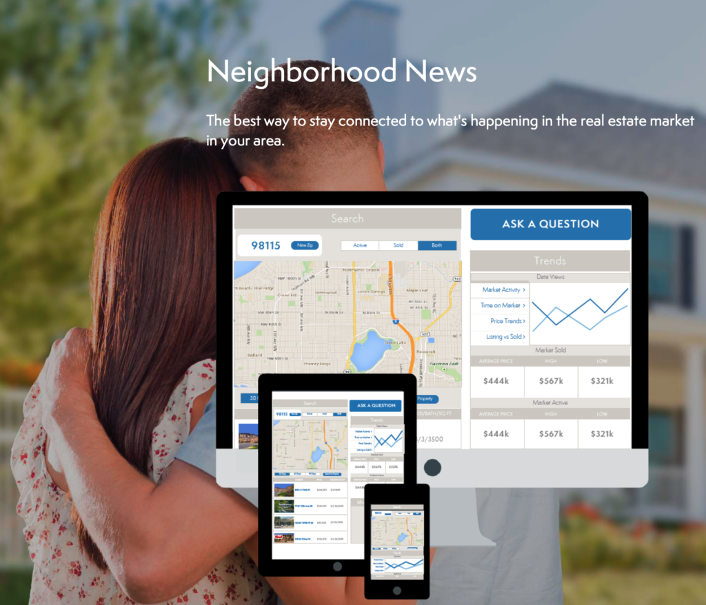 Graphic showing example of Neighborhood News